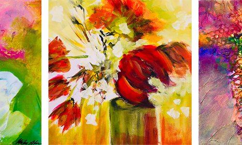 Textured paintings by Meike Anton in Springfield MO