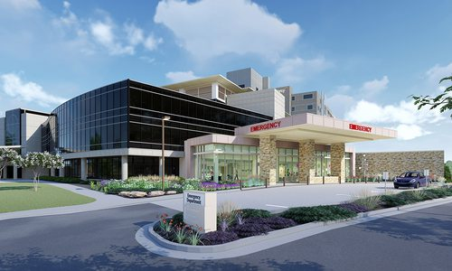 Rendering of Mercy Hospital's new Mercy Kids pediatric emergency room
