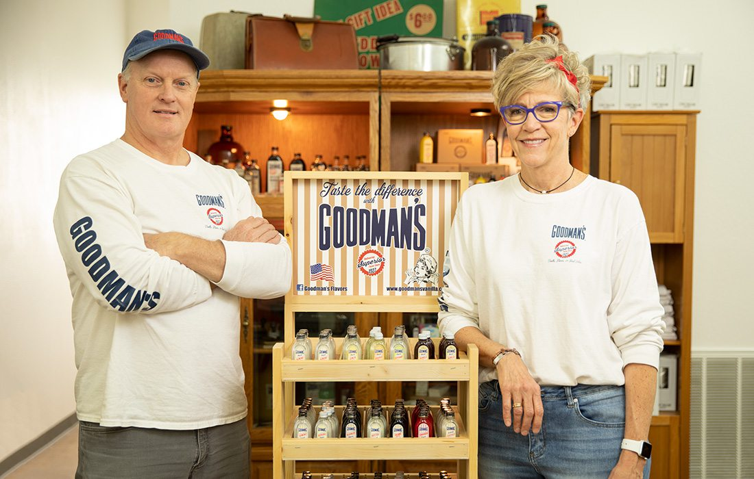 Mike and Michelle Kimrey of Goodman's in Springfield MO