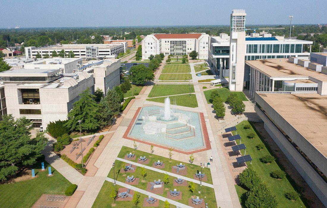 Missouri State University campus in Springfield MO