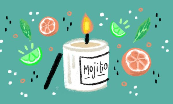 Candles and Mojito art from Culture Flock