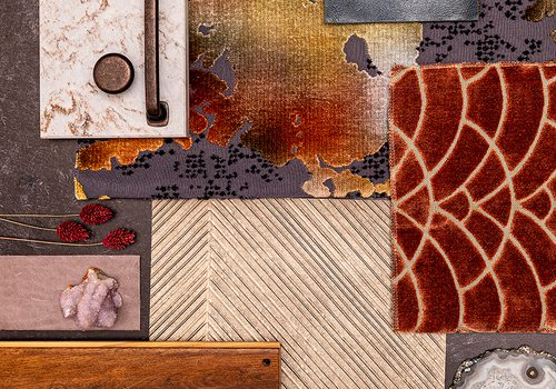 Fall colors home decor mood board