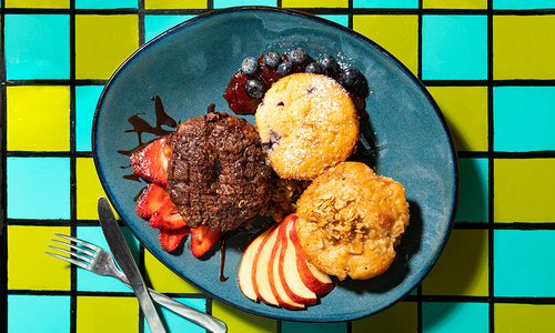 Muffin sampler at Morning Day Cafe in Nixa, MO