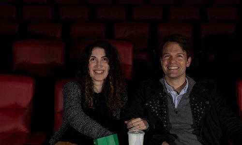 Couple at Moxie cinema