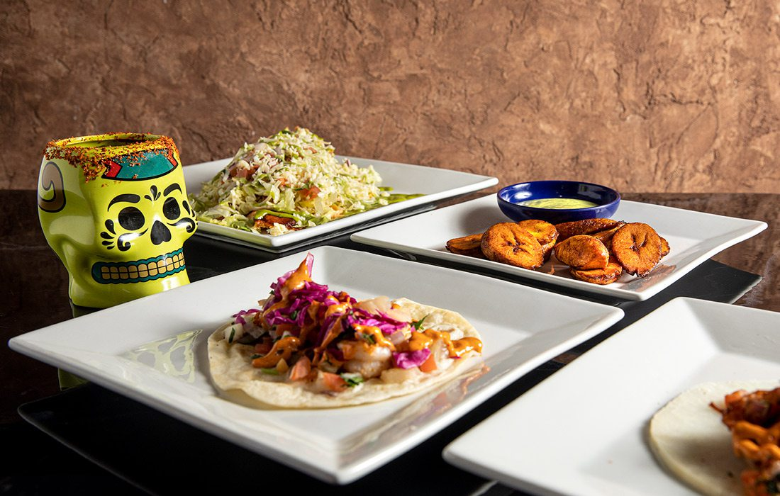 All dishes spread at Mundos Kitchen