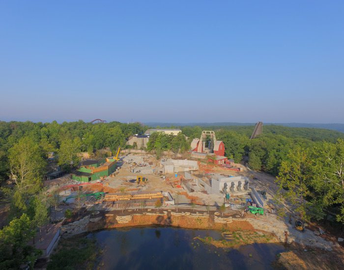 Aerial imagery of construction site at SDC