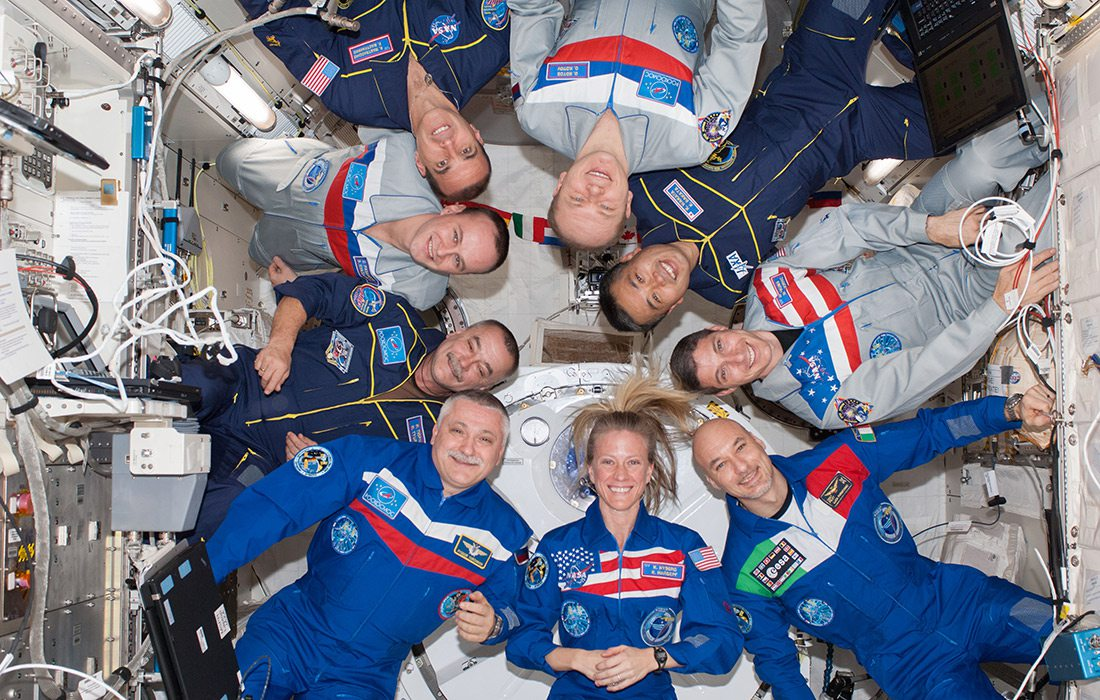 NASA Astronauts on a trip to the International Space Station
