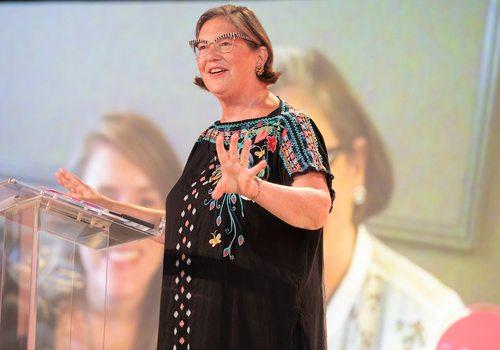 Nancy Allen speaking at Ladies Who Launch 2020