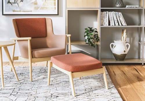 Midcentury modern armchair available at Grooms Office Environments in Springfield MO