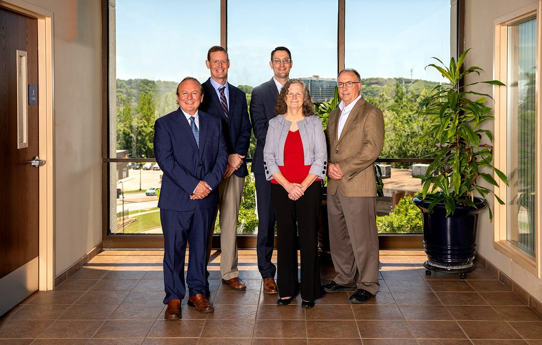 John Martinez, MD; Dwight Zabel, MD; Michael Selby, MD; Lavonne Burrows, CNS; Robert Muller, NP-C (not pictured: Johnna Manna, PA-C)