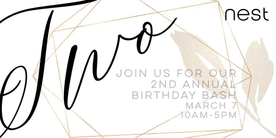 Nest's 2nd Annual Birthday Bash