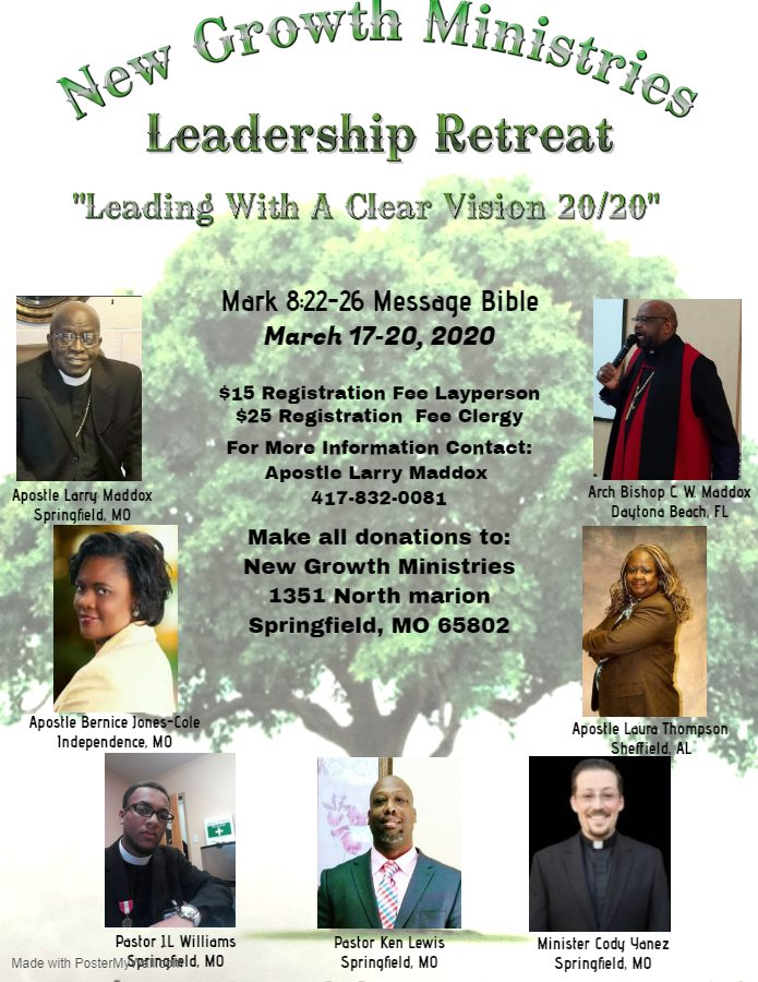 New Growth Ministries Leadership Retreat: Leading With A Clear Vision 20/20