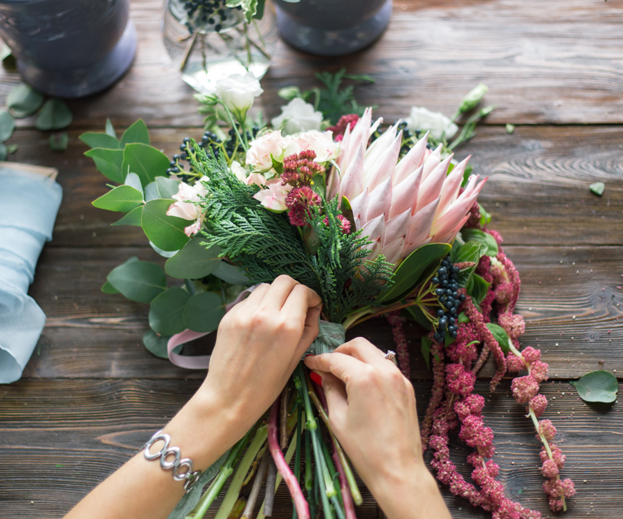 Add pops of color to the drab winter by learning about flower arrangements.