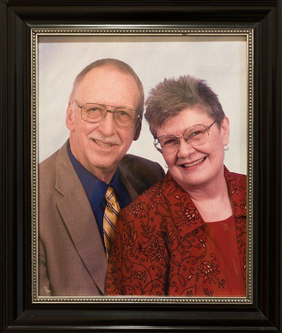 Chris Upton's grandparents Bill and Clarene Shepherd