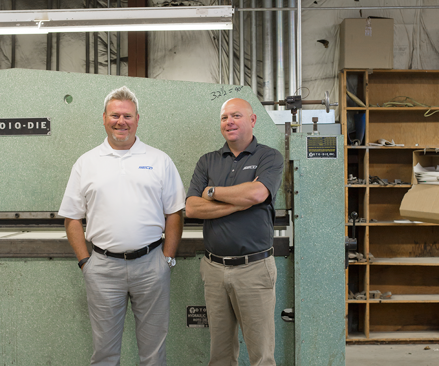 Jeffrey (left) and Bryan Fielder (right) of Springfield Engineering Company