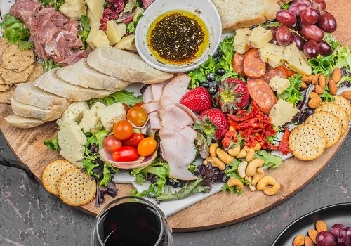 Charcuterie board at the Vineyard Market in Ozark MO