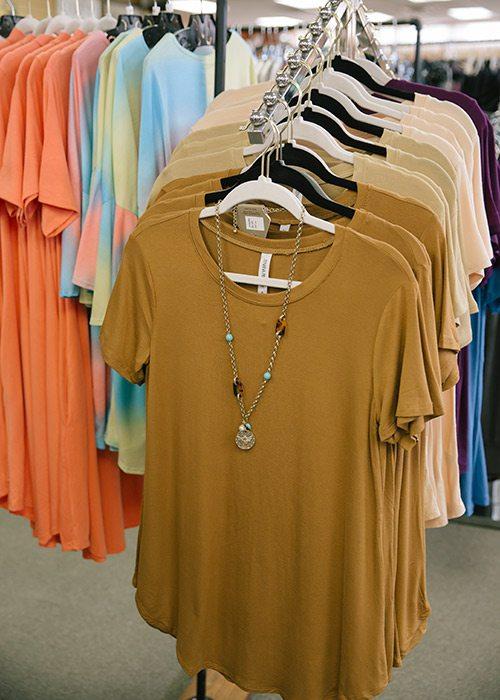 Selection of shirts at Nixa Clothing Company in Nixa MO