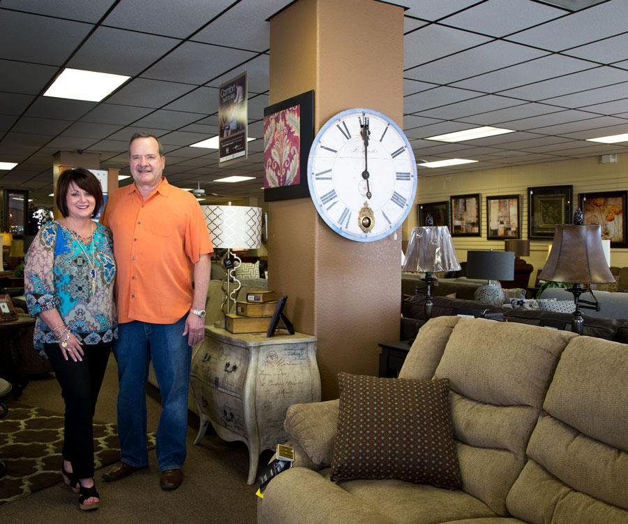 Beverly and Larry Helton of Helton's Home Furnishings Inc.