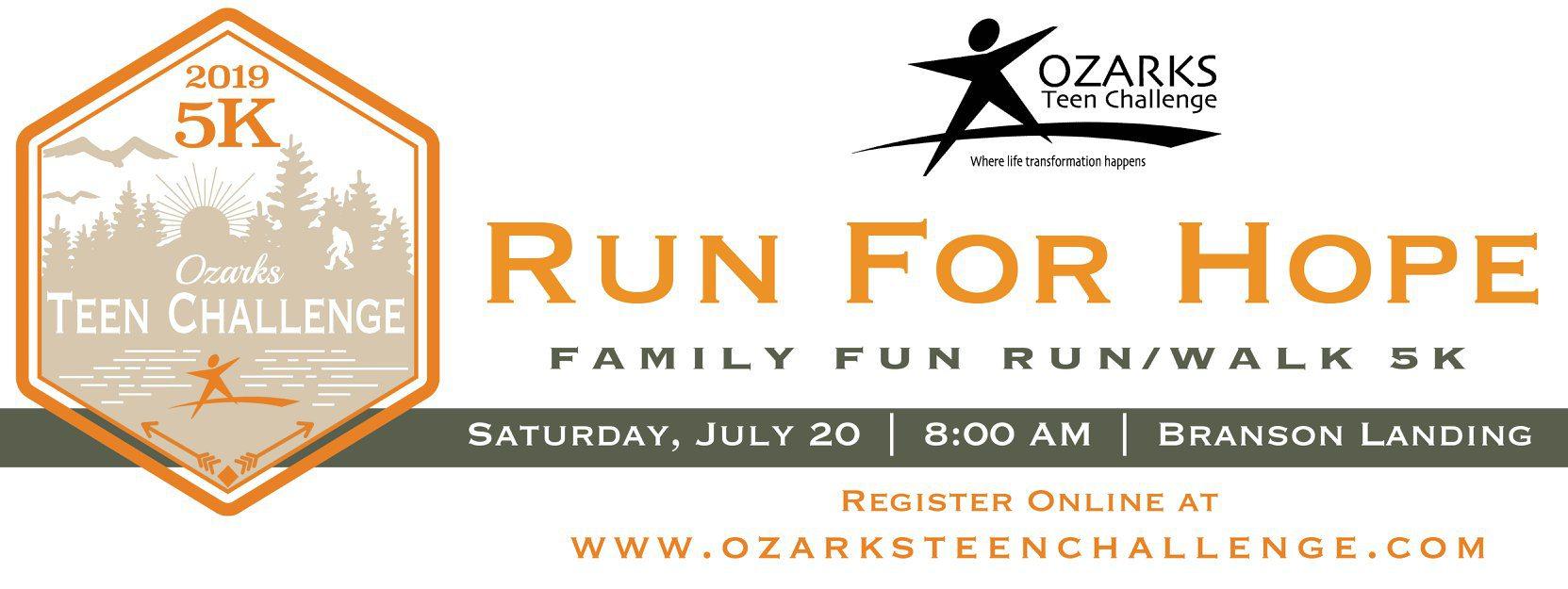 OZARKS TEEN CHALLENGE FAMILY 5K RUN/WALK