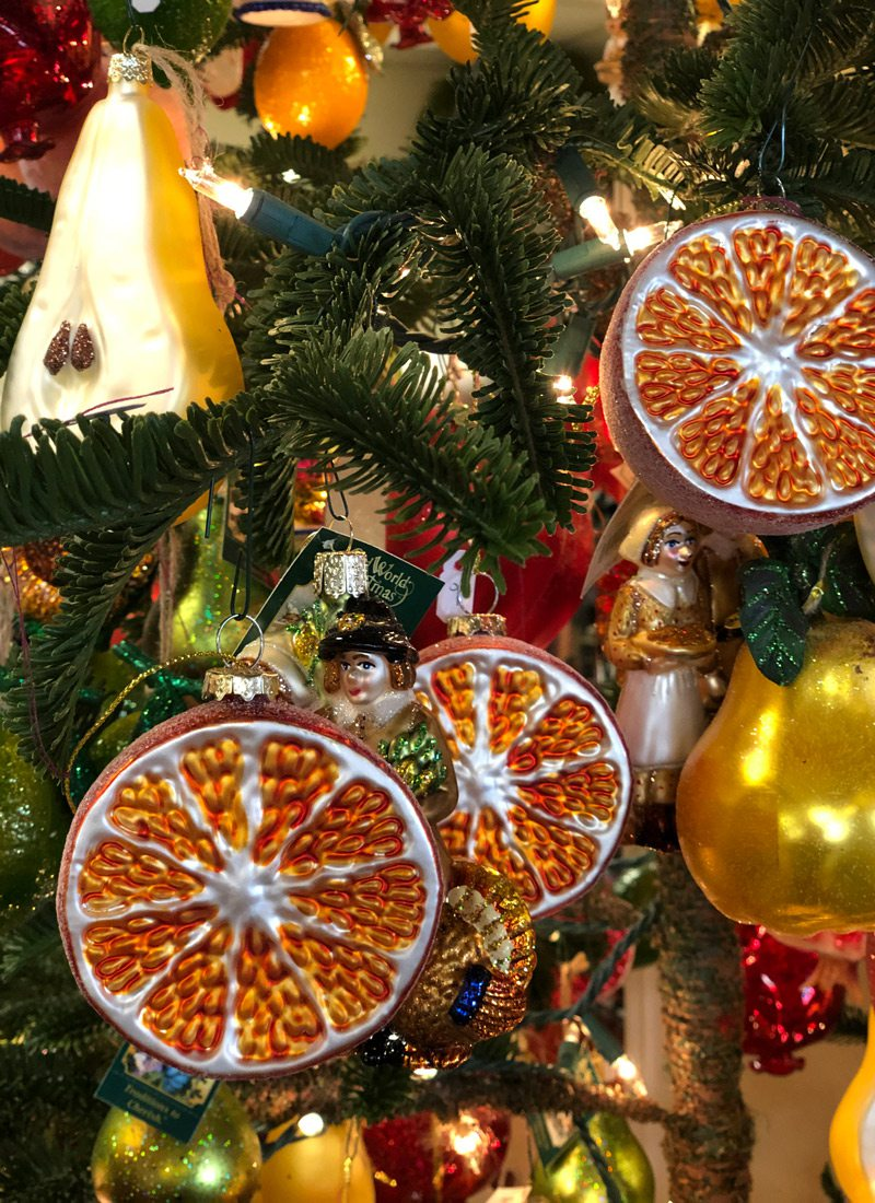 Orange slice tree ornaments
