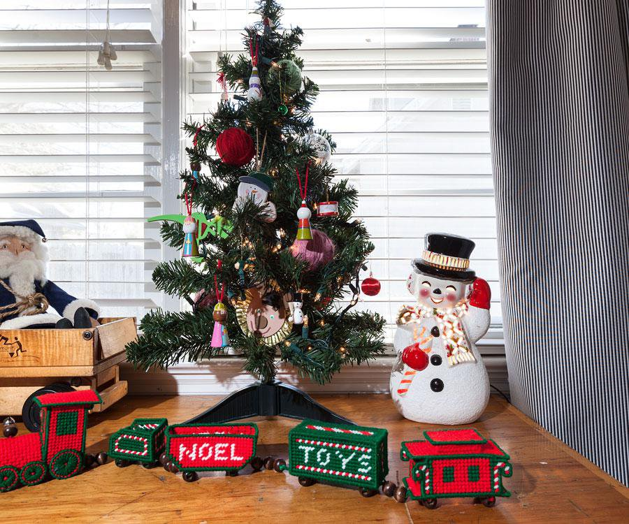 Lizzie Rasmussen includes many detailed displays around her home when decorating for Christmas.