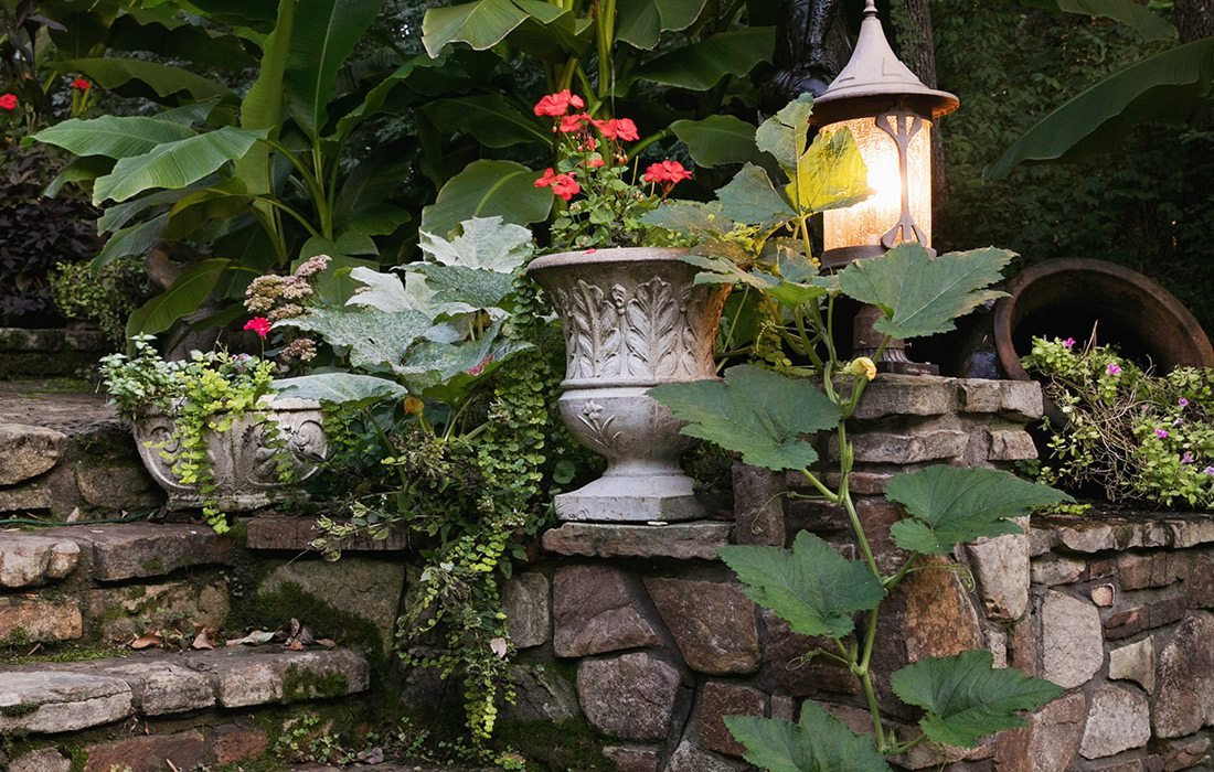 Lush tropical landscaping | Hill Home Springfield MO