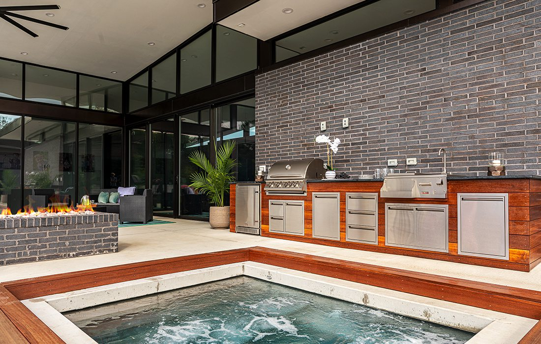 Robert and Angie Belk's pool and outdoor kitchen Springfield MO