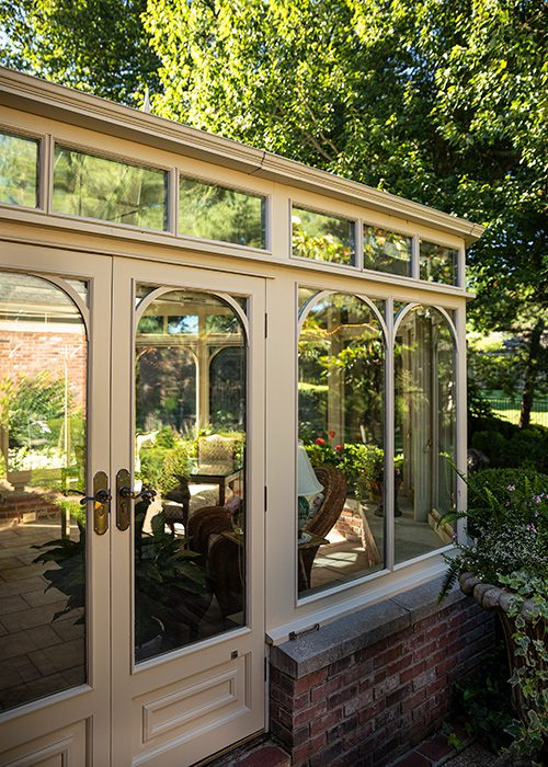 Robert and Peg Carolla's backyard conservatory and garden