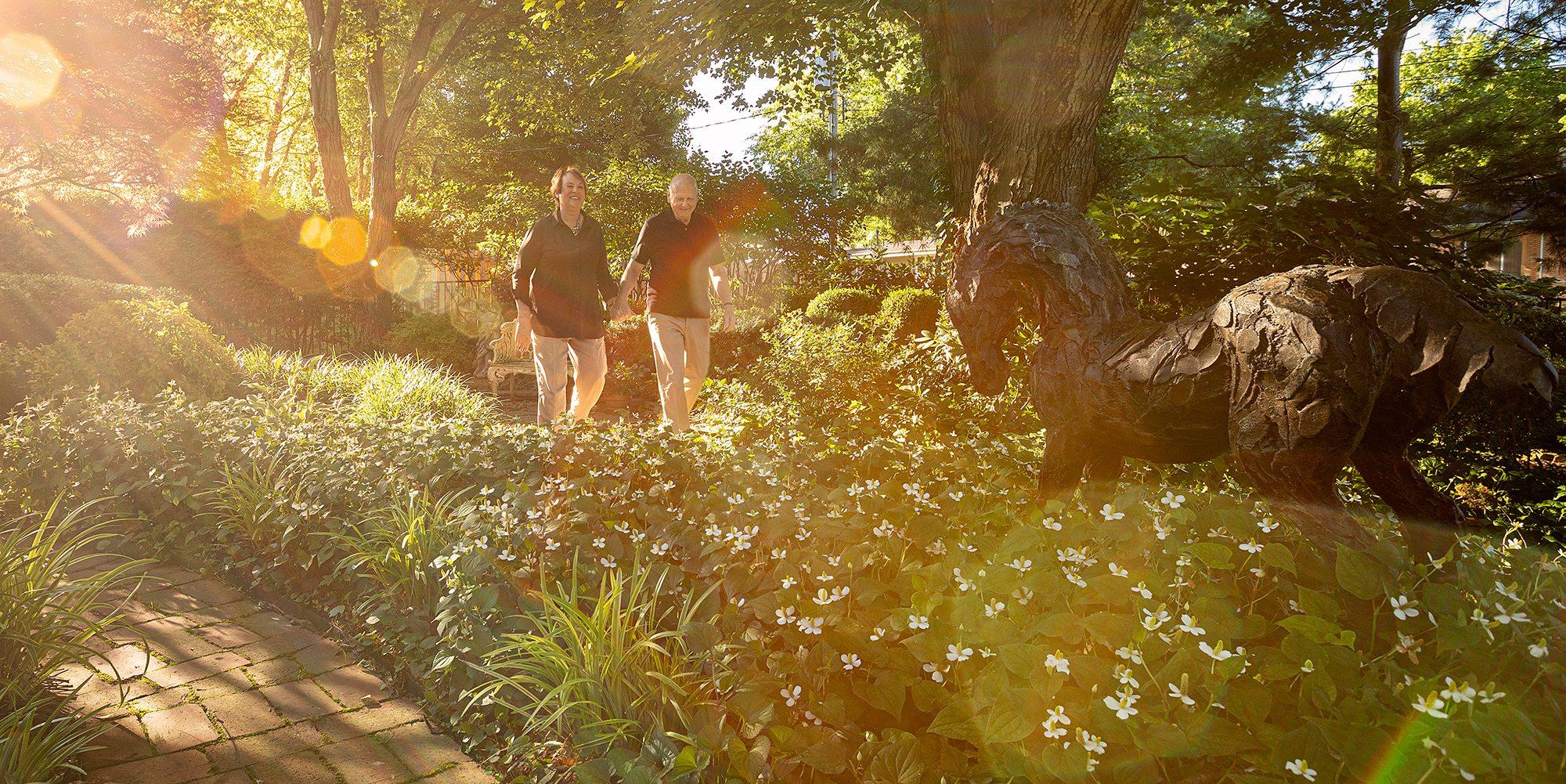 Rober and Peg Carolla backyard garden Springfield MO