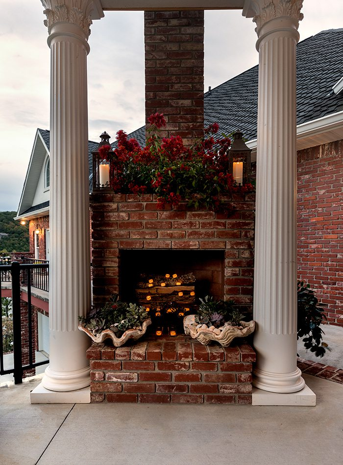 King Home - A Snug Fit - Outdoor Fireplace