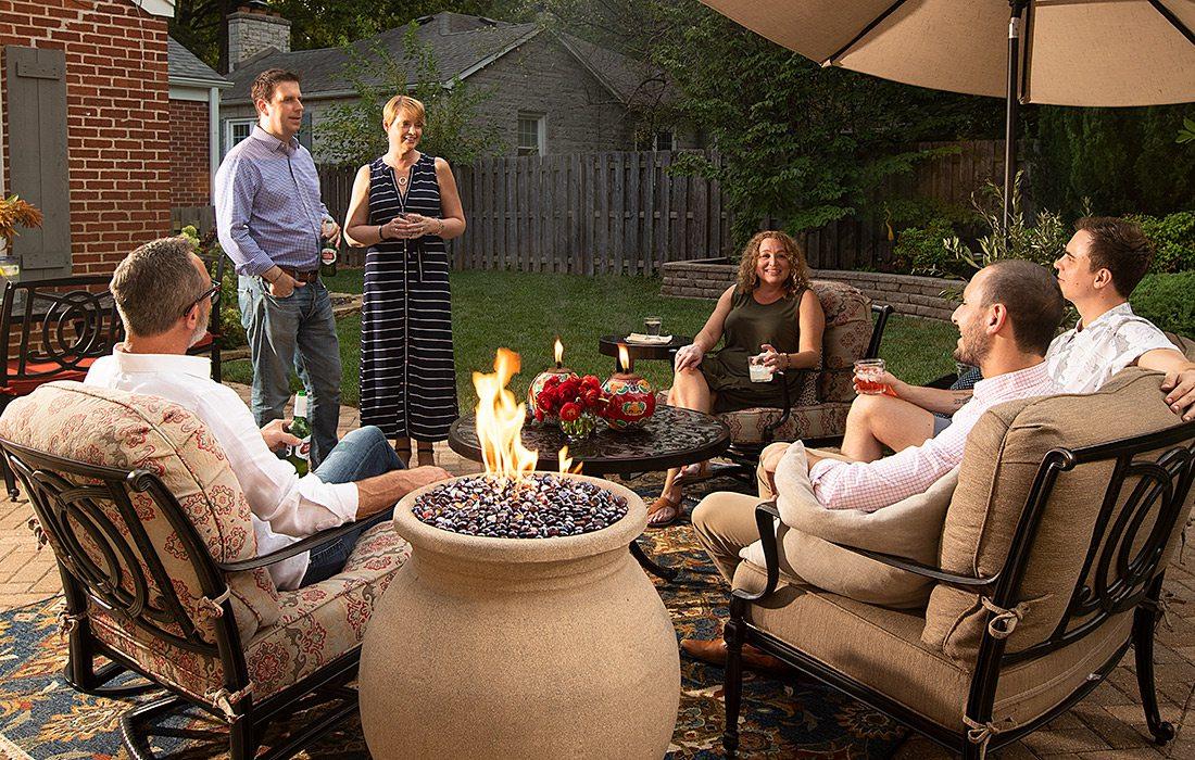 Backyard party in Phelps Grove neighborhood in Springfield MO
