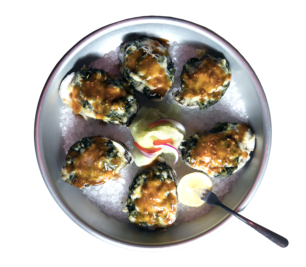 Oysters Rockefeller by Chef Mike Jalili.