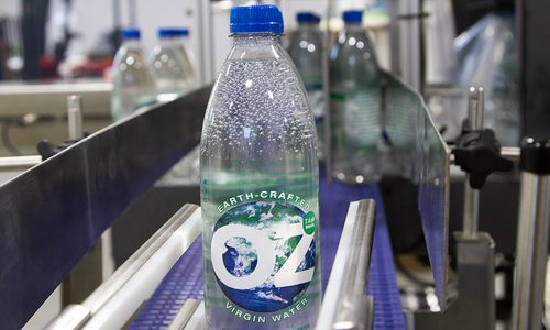 OzWater bottles on a production line