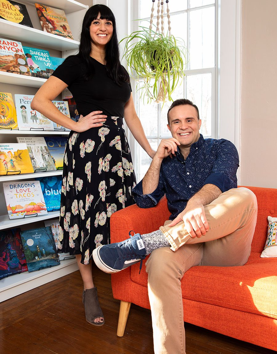 Jennifer Murvin and Kory Cooper, owners of Pagination Bookshop