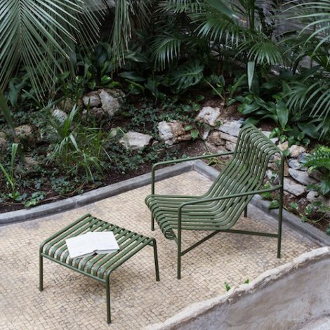 Palissade lounge chair and ottoman