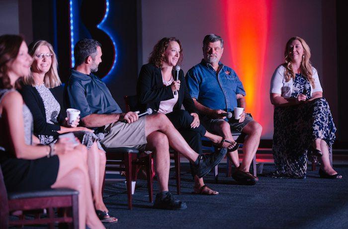 Alesha Gonzales with Penn Enterprises, Inc. sits on the B-School Breakfast panel on June 13.