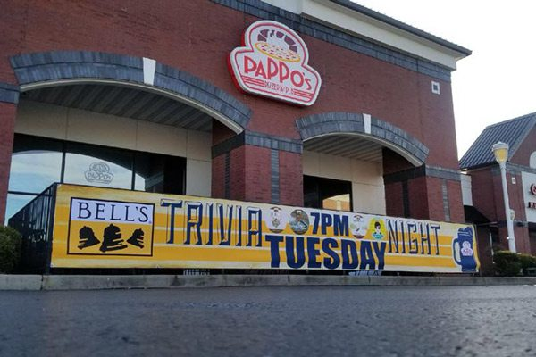 Pappo's Trivia Night banner outdoor