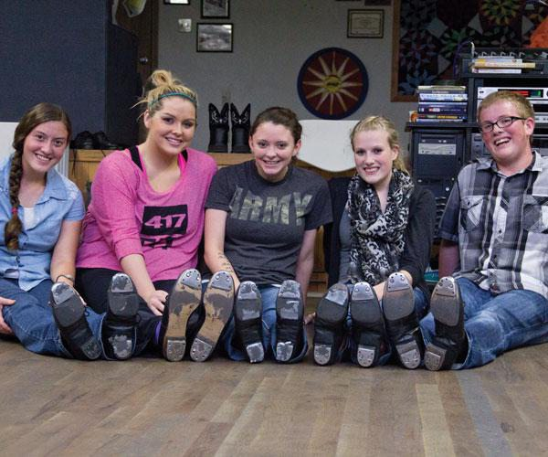 Clogging and tap class students