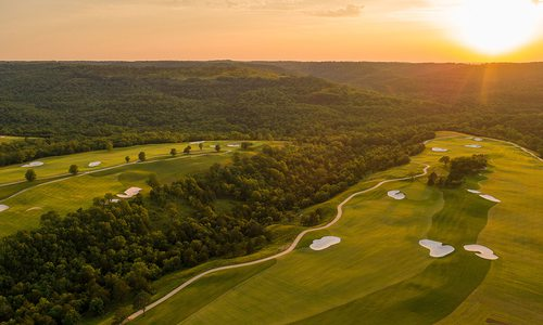 Payne's Valley Nature Golf Course at sunset