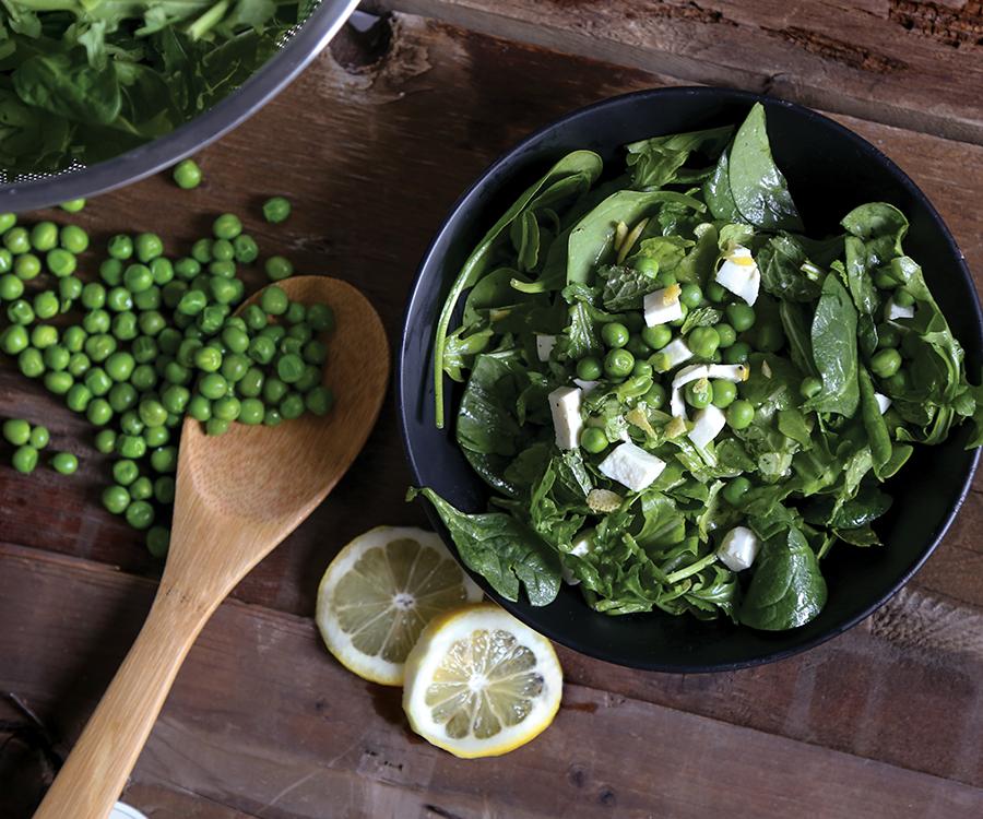 Fresh mint and pea salad
