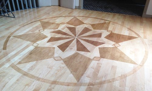 Wooden Wonder: How Two Local Artists Created a Wooden Floor Mural