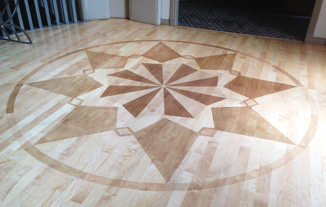 Teresa Pellegrino and Jesse Stone Wooden Floor Mural