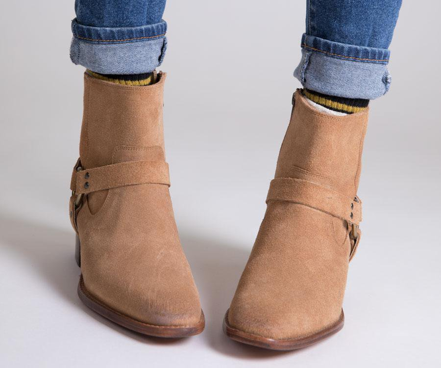 FRYE Dara Harness short boots from Harem & Company.