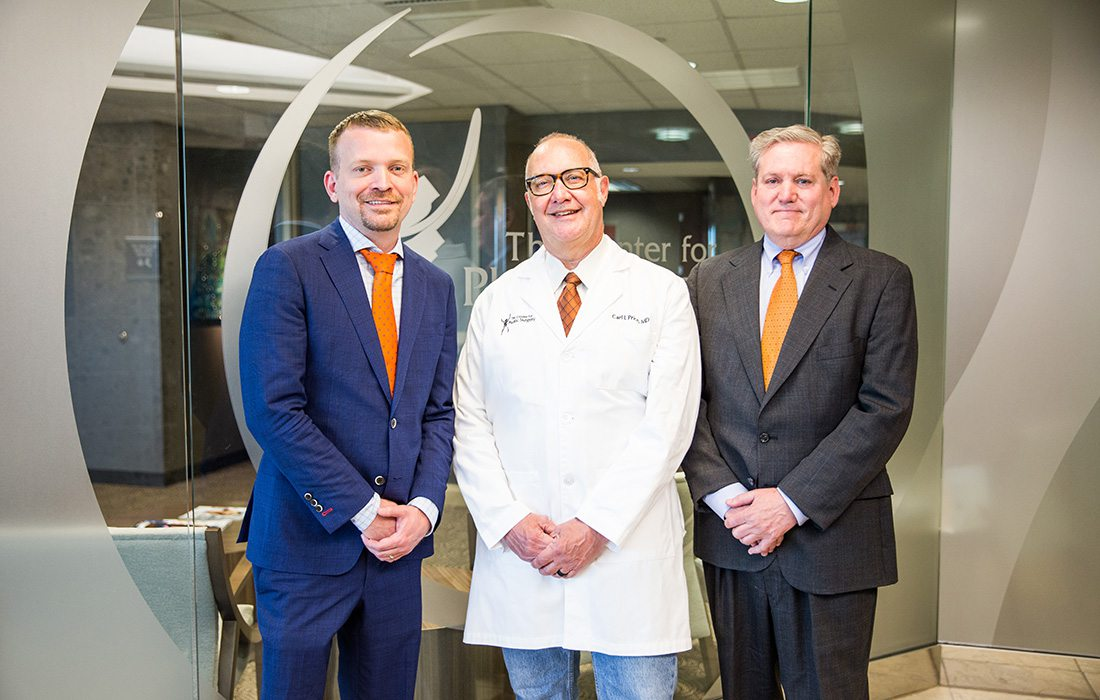 Robert Shaw, MD; Carl Price, MD; Arthur Hawes, MD of the Center for Plastic Surgery