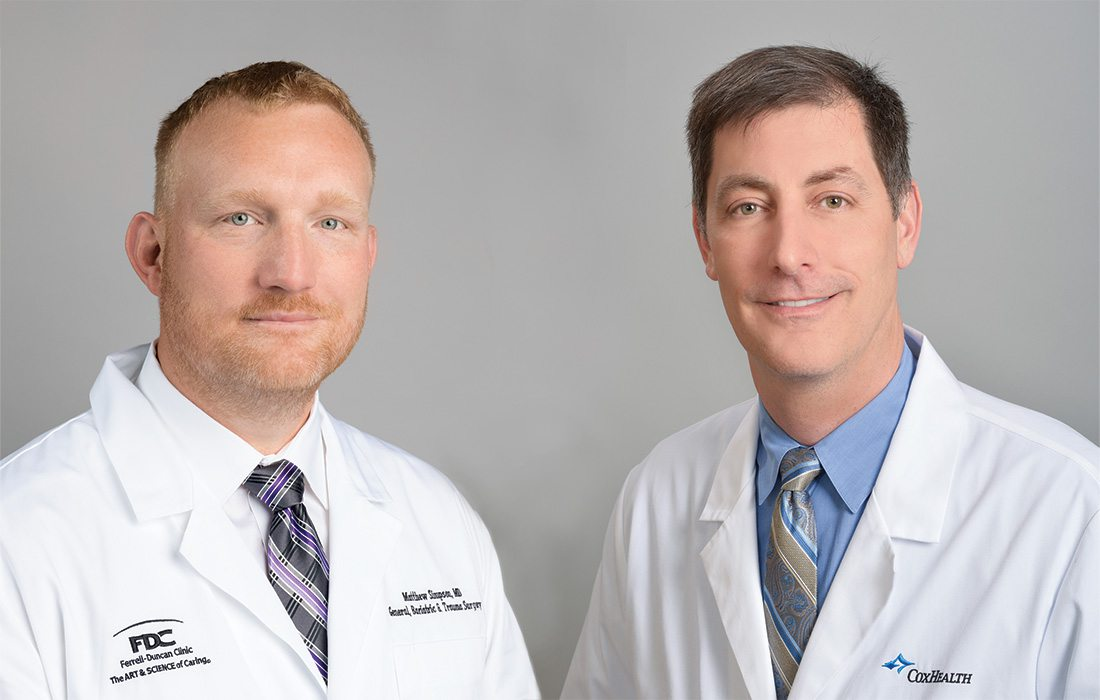 Matthew Simpson, MD; Timothy Woods, MD of Ferrell-Duncan Clinic