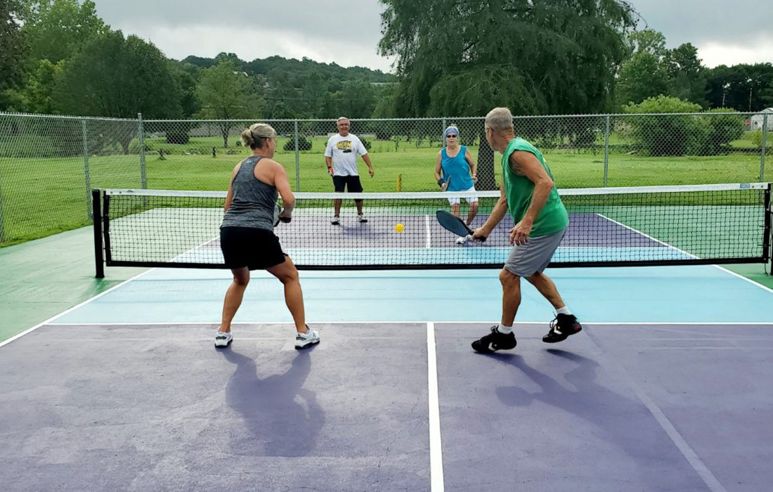 People playing pickleball at Eiserman Park in Branson, MO