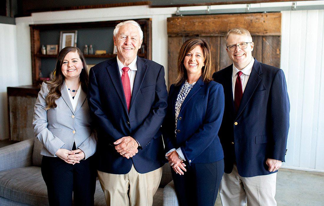 Molly Wilson, John Pratt, Shannon Grisham and Brennan Pratt of Pratt & Grisham in Springfield MO
