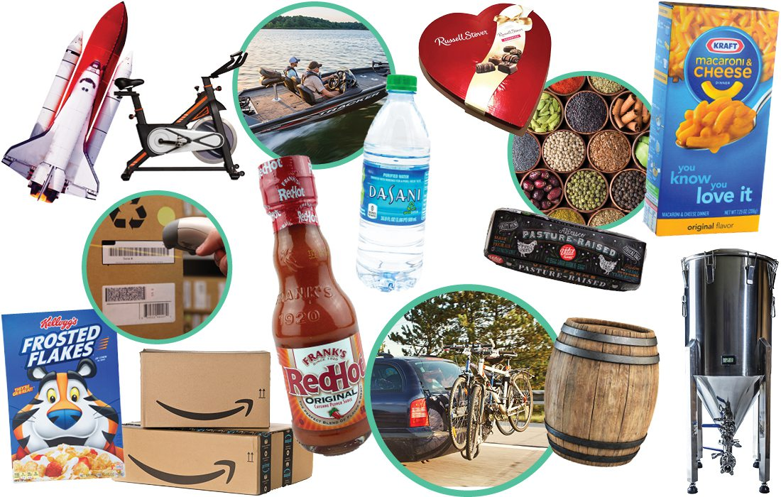 Compilation of products made in southwest Missouri