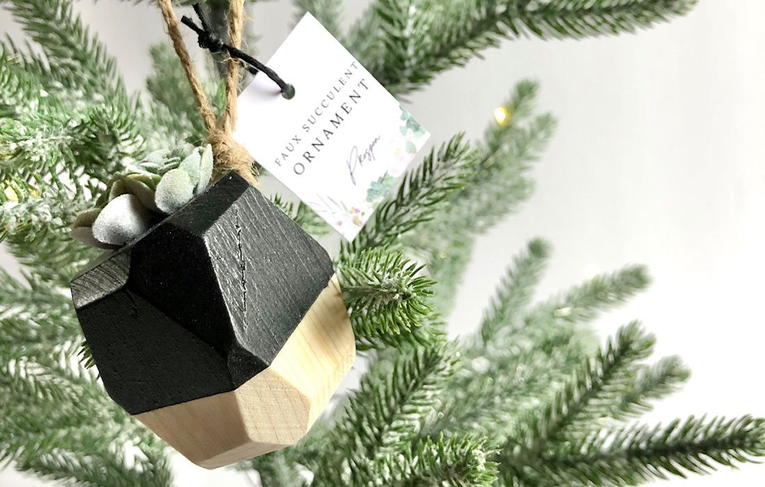 Wooden Christmas ornament by Prosper Woodwork in Springfield MO