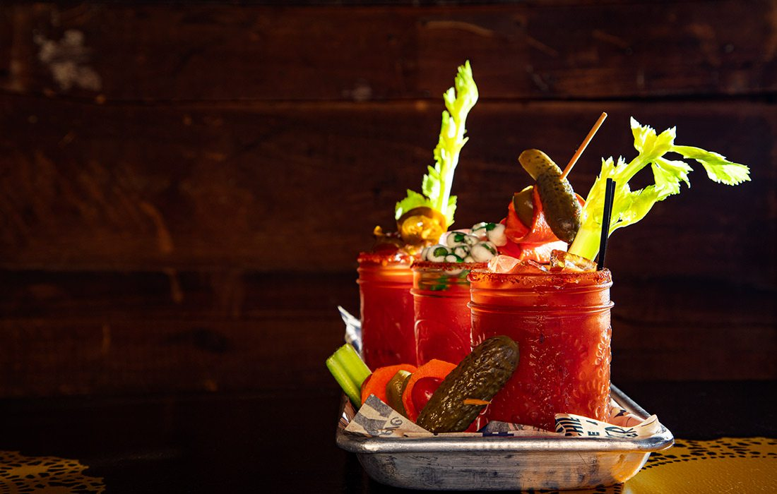 Bloody Mary varieties at Morning Day Cafe